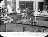 Students work in Electrical Laboratory, 1935