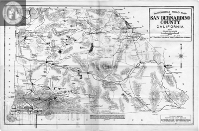 Road Map of San Bernardino County California