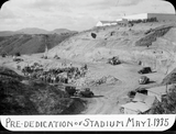 Pre-dedication of stadium May 1, 1935