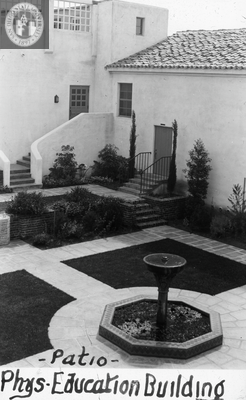Patio - physical education building, 1935
