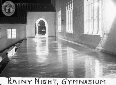 Rainy night - gymnasium, 1935