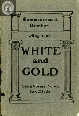 White and Gold yearbook, 1906