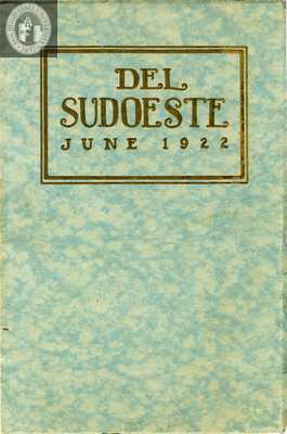 Del Sudoeste yearbook, 1922
