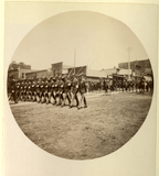 Uniformed men in parade