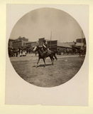 Man on horseback in parade