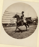 Man riding on horseback