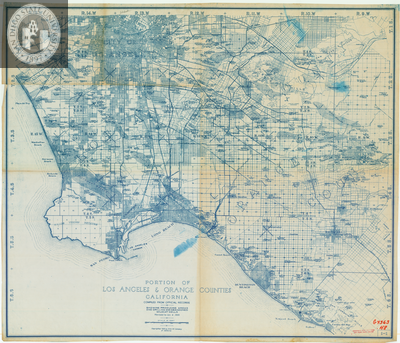 Portion of Los Angeles and Orange Counties Map