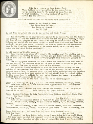 The Aztec News Letter, Number 2, May 22, 1942