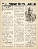 The Aztec News Letter, Number 18, September 1, 1943