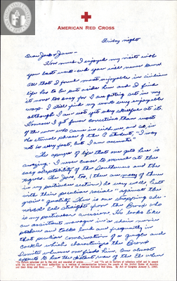 Letter from Harry E. Jones, 1942