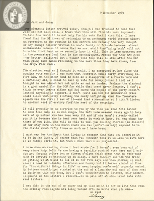 Letter from Harry E. Jones, 1944