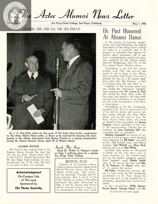 The Aztec Alumni News Letter, Volume 1, Number 2, May 1, 1946
