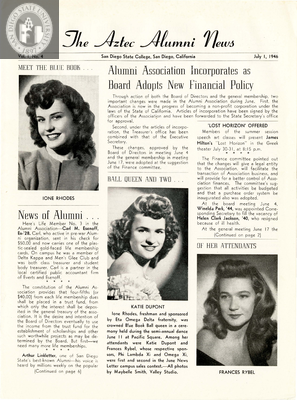 The Aztec Alumni News, Volume 1, Number 4, July 1, 1946