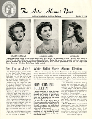 The Aztec Alumni News, Volume 1, Number 7, October 7, 1946