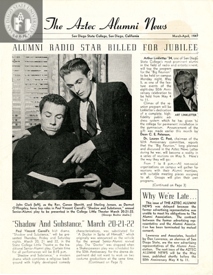 The Aztec Alumni News, Volume 2, Number 1, March-April 1947