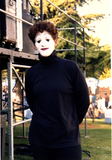 Mime portrait at San Diego Pride, 1995
