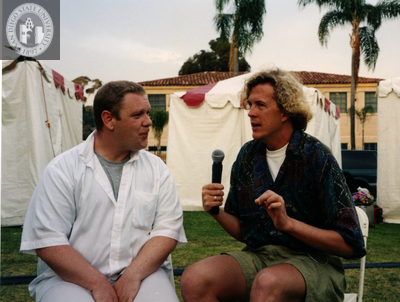 Interview by Los Angeles reporter at San Diego Pride, 1995