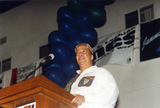Pat Hussain at Out & Free awards ceremony, 1995