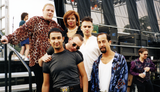 Bronski Beat and performers backstage at San Diego Pride, 1995