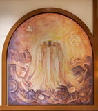 "Reinstalled ""Mural Triptico,"" panel ""The Dawn"""