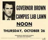 Flyer for Governor Brown lecture, 1978