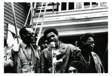 Bobby Seale speaks at Black Panther rally, 1968