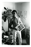 Huey P. Newton at home in Berkeley, 1970