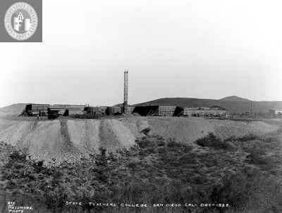 Construction on Montezuma Mesa, 1929