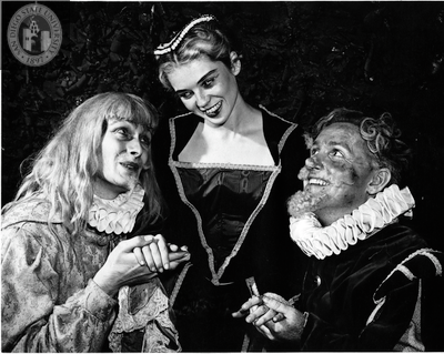 Sterling Jenson, Ann Jones and James Gavin in Twelfth Night, 1949