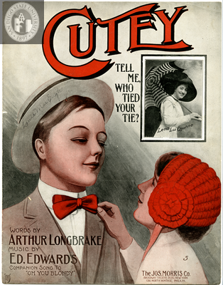 Cutey tell me, who tied your tie? 1910