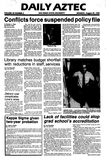 Daily Aztec: Monday 08/29/1983