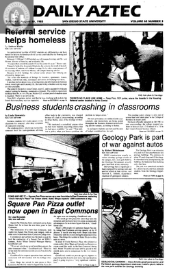 Daily Aztec: Tuesday 08/30/1983