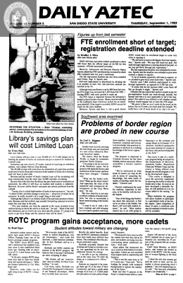 Daily Aztec: Thursday 09/01/1983