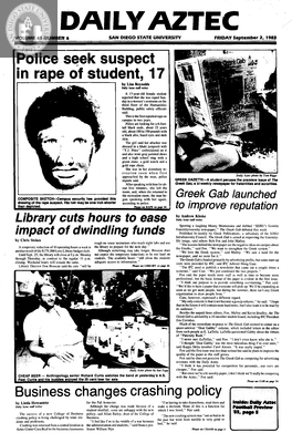 Daily Aztec: Friday 09/02/1983
