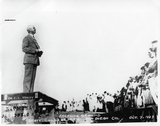 President Hardy speaks during groundbreaking, 1929