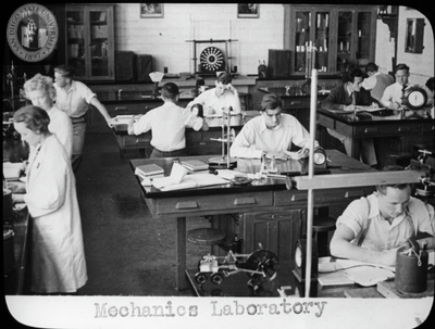 Students in Mechanics Laboratory, 1935