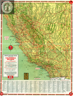 Road Map of California Nevada Highways - SDSU Liry Digital ... California And Nevada Map on
